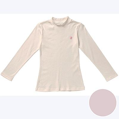 嬪婷-小童120.140 內搭立領長袖(粉)有機棉-環保素材-吸濕透氣