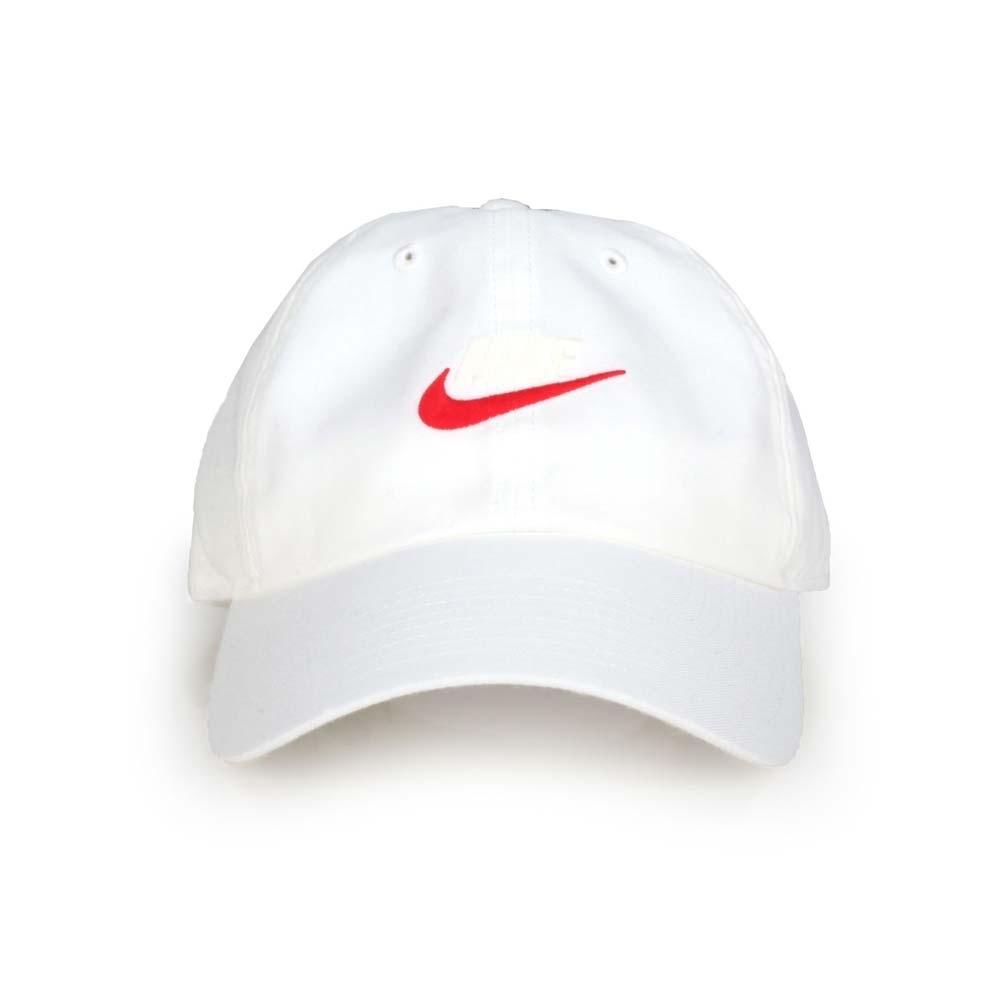 NIKE 運動帽 白紅