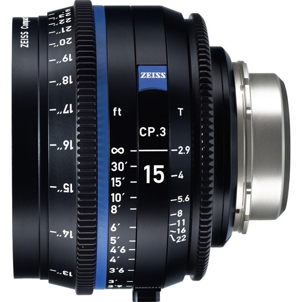 蔡司 Zeiss CP.3 15mm T2.9 Feet 電影定焦鏡頭 公司貨