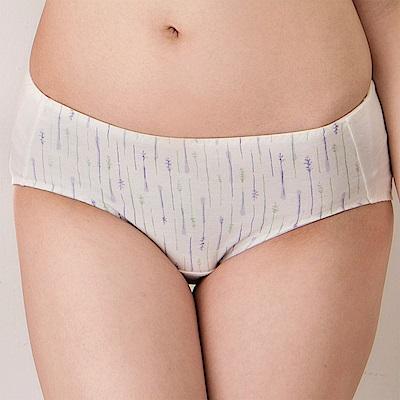 嬪婷-學生 環保系列有機棉 M-LL 低腰生理內褲 (白麻灰)透氣包臀