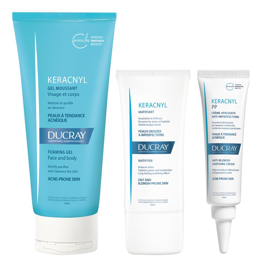DUCRAY護蕾 淨化毛孔三步驟套組