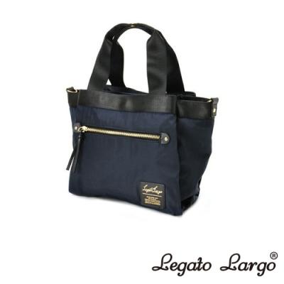 Legato Largo Lieto 高密度尼龍多收納手提斜背兩用包 深藍