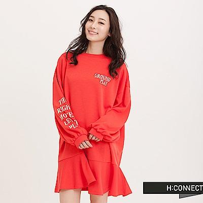 H:CONNECT 韓國品牌 女裝 - 蓬袖魚尾短洋裝-紅(快)