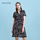 EPISODE - 黑色幾何圖案襯衫領短袖洋裝 product thumbnail 1