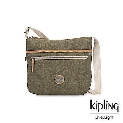 Kipling 城市探索橄欖綠前拉鍊側背包-ARTO-EDGELAND系列