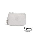 Kipling 探索亮銀灰三夾層配件包-CREATIVITY S