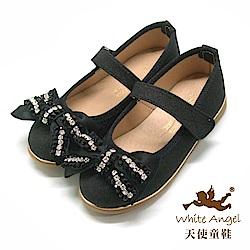 天使童鞋 水光蝴蝶公主鞋(中-大童) JU888-黑