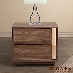 日本直人木業-ALEX胡桃木簡約48CM床頭櫃