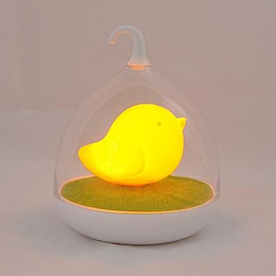 半島良品 創意萌系LED鳥籠小夜燈- 桔萌鳥