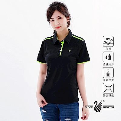 【遊遍天下】MIT女款吸濕排汗抗UV機能POLO衫GS10033黑色