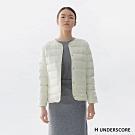 H UNDERSCORE 全新潮牌 女裝 - 簡約排扣輕羽絨外套 - 白色