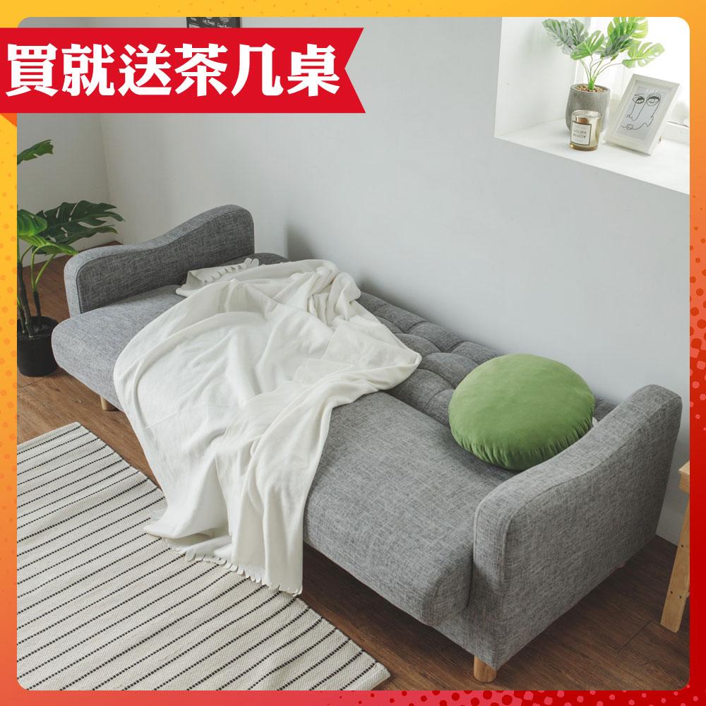 完美主義 經典三人座收納沙發/沙發床/布沙發(2色)-DIY