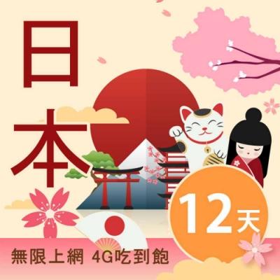 【Smart Go】日本 網卡 12日 4G 不降速 上網 吃到飽 上網 SIM卡