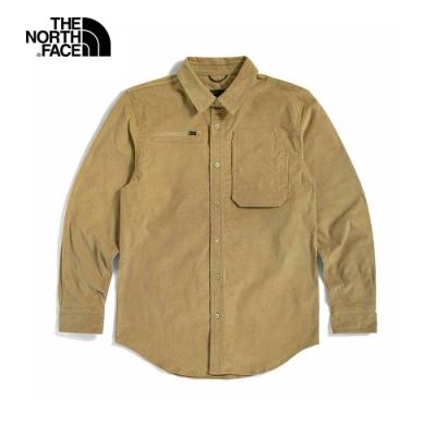 The North Face北面UE男款卡其色防風防潑水長袖襯衫|4UD5H7E