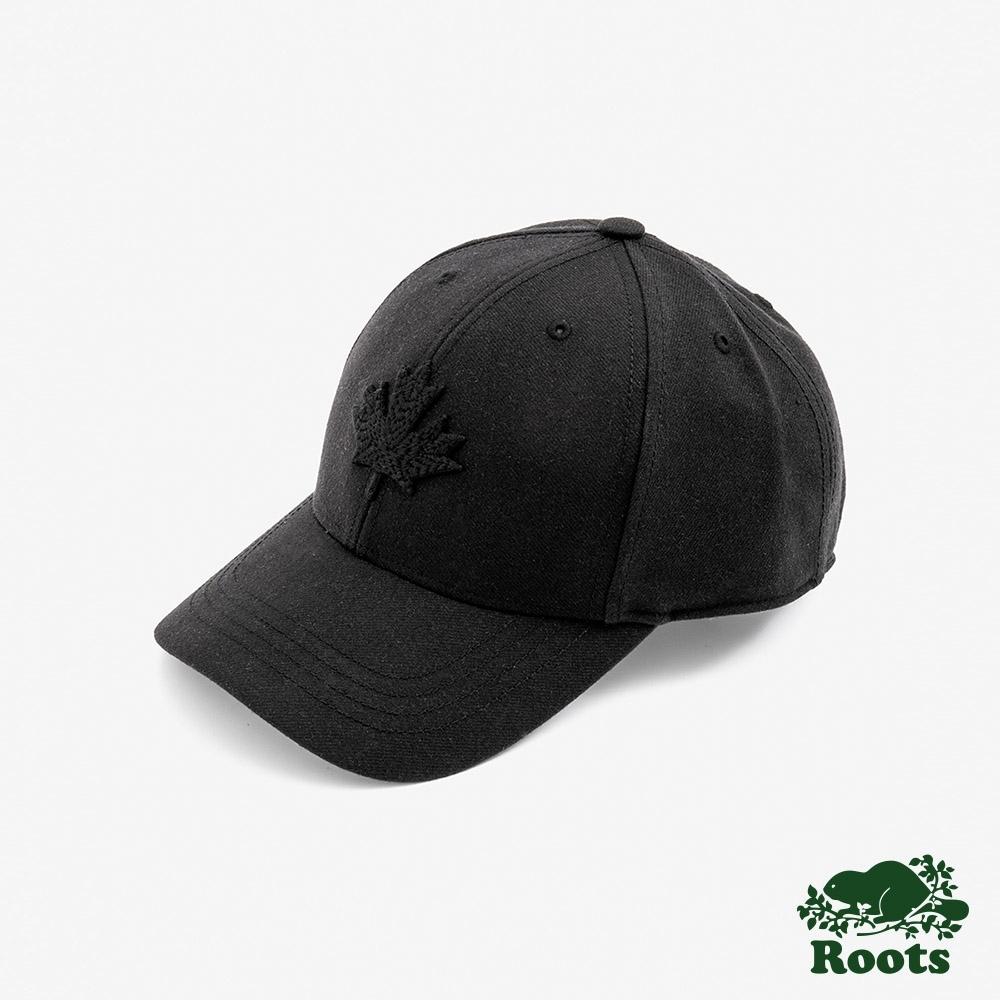 ROOTS 配件- 摩登楓葉棒球帽-黑