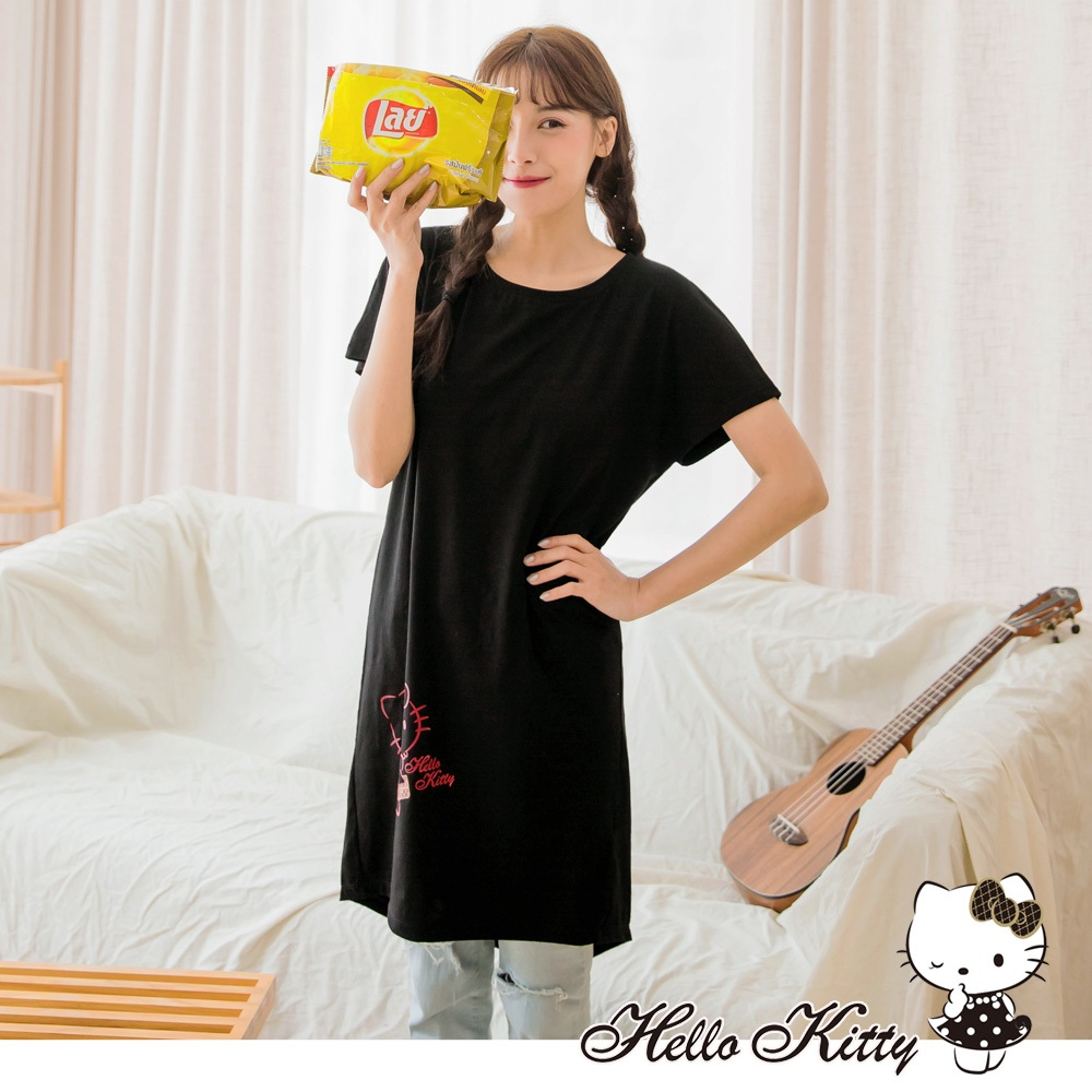 KITTY法國系列前短後長印花洋裝-OB嚴選 product image 1