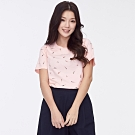 bossini女裝-圓領全版印花上衣04粉色