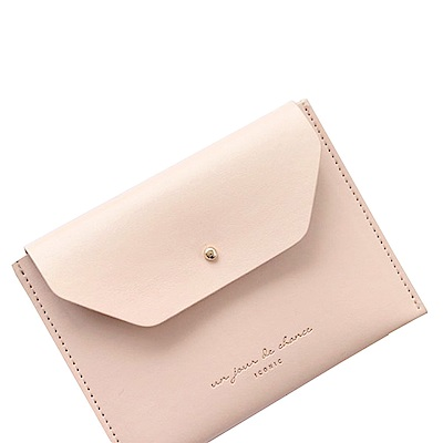 ICONIC 職人風格皮革票卡夾零錢包L-印度粉紅