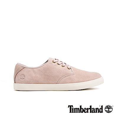 Timberland 女款淺粉色正絨面皮革休閒鞋|A1V92