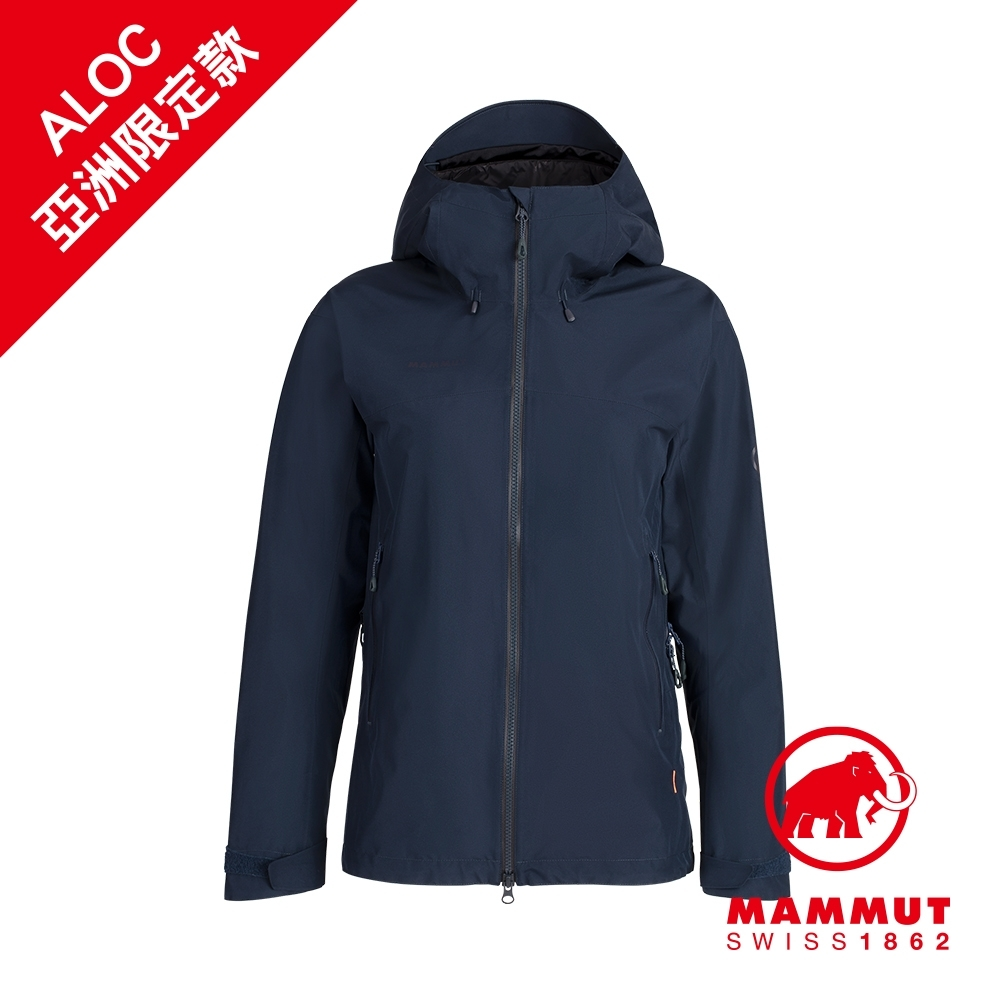【Mammut 長毛象】Ayako Pro HS Hooded Jacket AF GTX防水連帽外套 海洋藍 女款 #1010-27560(*網路獨賣色)