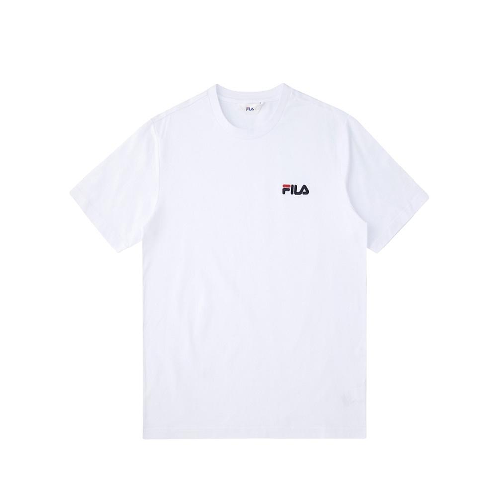 FILA 短袖圓領上衣-白 1TEV-1500-WT