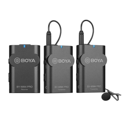 博雅BOYA BY-WM4 PRO-K2數字雙通道無線麥克風 1接收2發射 (立福公司貨)