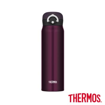 THERMOS膳魔師不鏽鋼真空輕巧變保溫瓶0.6L(JNR-600)-M-BK(午夜黑)