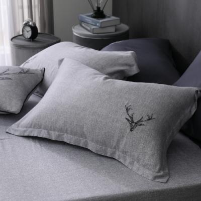 OLIVIA 路克 灰 標準雙人床包枕套三件組 230織天絲TM萊賽爾 台灣製