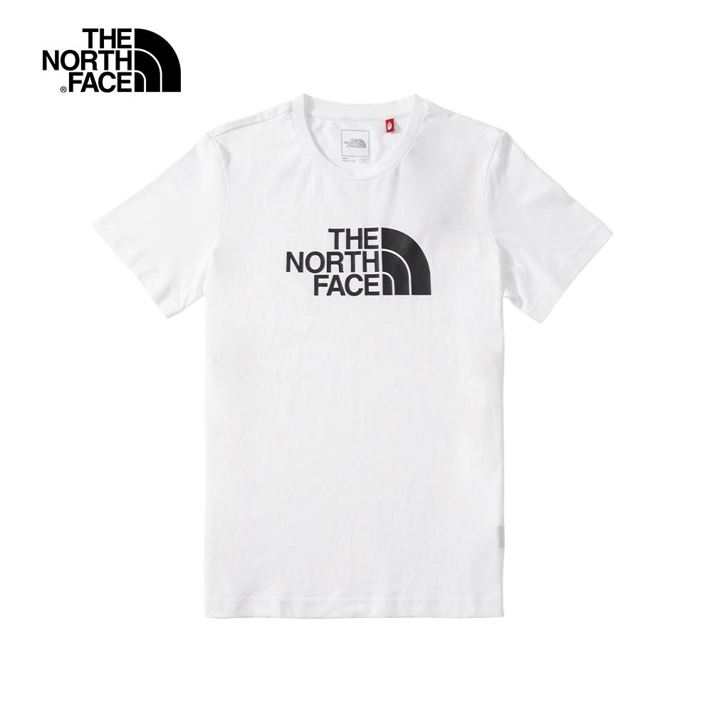 The North Face北面男款白色經典LOGO短袖T恤 4NC7LA9