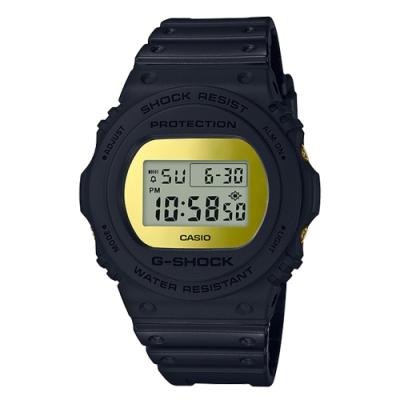 G-SHOCK 強悍霧面磨砂風格設計運動腕錶-金(DW-5700BBMB-1)/48.9m