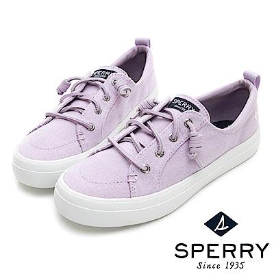 SPERRY 經典復古甜心粉嫩帆布鞋(女)-粉紫