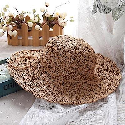 米蘭精品 草帽防曬遮陽帽-夏季大帽簷清爽透氣女帽子母親節禮物73rp43