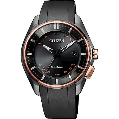CITIZEN 星辰100周年限量 鈦 光動能藍芽手錶-玫瑰金圈/40mm