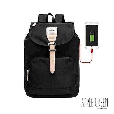 Apple Green 城市輕旅14 電腦後背包(黑)