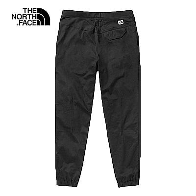 The North Face北面男款黑色防潑水長褲|46GGJK3