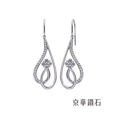 京華鑽石  鑽石耳環18K 姿意 0.63克拉