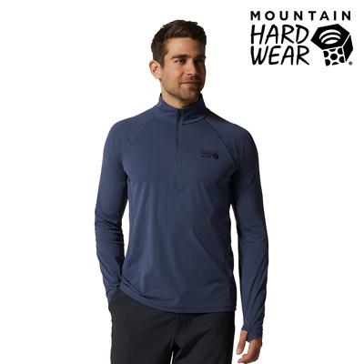 【美國 Mountain Hardwear】Mountain Stretch 1/2 Zip 彈性快乾立領半拉鍊長袖排汗衣 男款 鋅色 #1942331