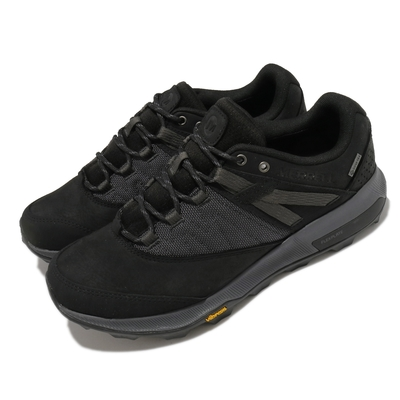 Merrell 戶外鞋 Zion GTX 運動休閒 男鞋 登山 越野 耐磨 黃金大底 穩定 吸震墊片 黑灰 ML036233
