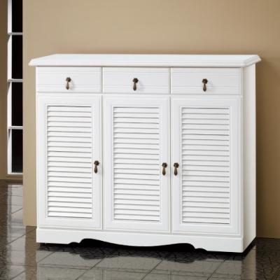 Bernice-烤白4尺鞋櫃-120x40.5x102cm