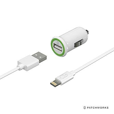 Patchworks MFi 蘋果原廠認證 車充+充電線