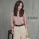 東京著衣-KODZ 小心機瘦手臂蝴蝶結設計上衣-S.M.L(共二色)