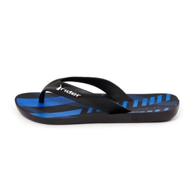 Rider 休閒舒適人字夾腳拖鞋(男款)-藍黑