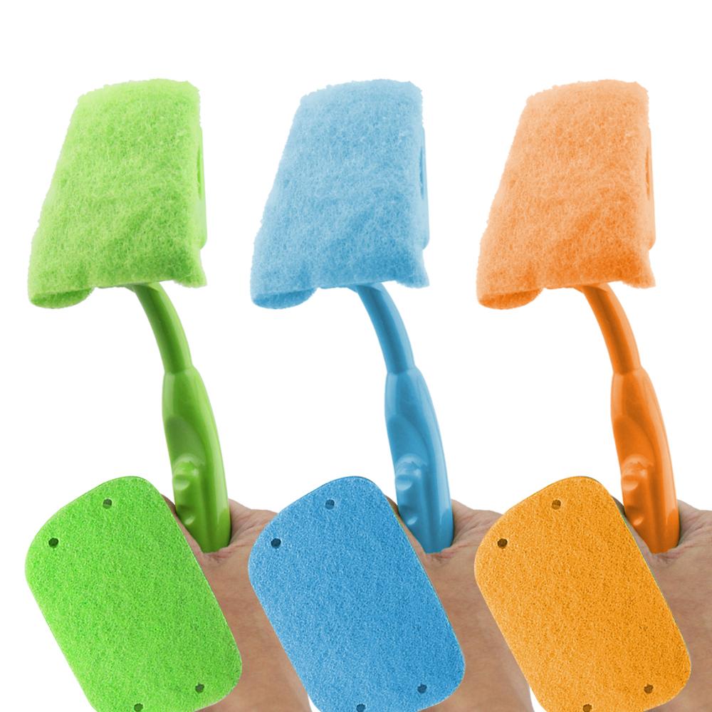 黑魔法 多功能替換式廚房清潔菜瓜刷x1+贈替換菜瓜布x1(顏色任選)