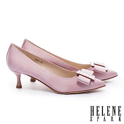 高跟鞋 HELENE SPARK 極致華麗優雅氣質尖頭喇叭高跟鞋-粉