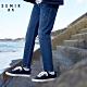 SEMIR-有型車線萊卡彈性刷破牛仔褲-男 product thumbnail 1