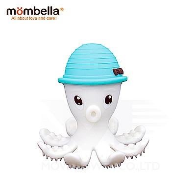 【任選】英國《mombella 》樂咬咬章魚固齒器(藍色)