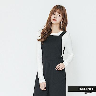 H:CONNECT 韓國品牌 女裝-合身圓領純色上衣-白