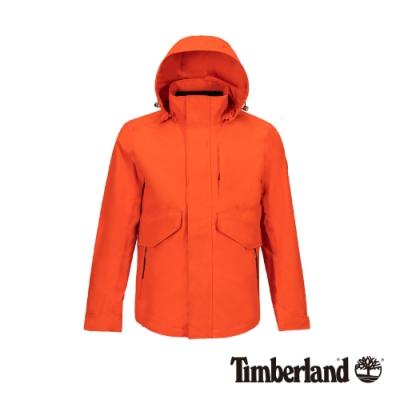 Timberland 男款亮橘色連帽防水三合一外套|A1WSZ