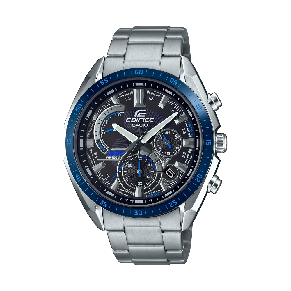 CASIO卡西歐 EDIFICE 三針三眼錶款 EFR-570DB-1B_44.6mm