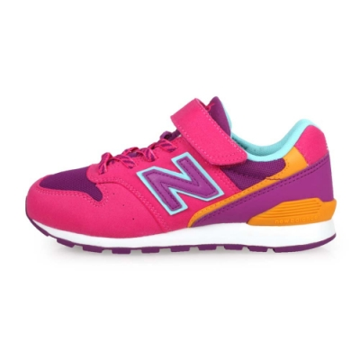 NEWBALANCE 中童復古慢跑鞋-WIDE 桃紅紫橘藍
